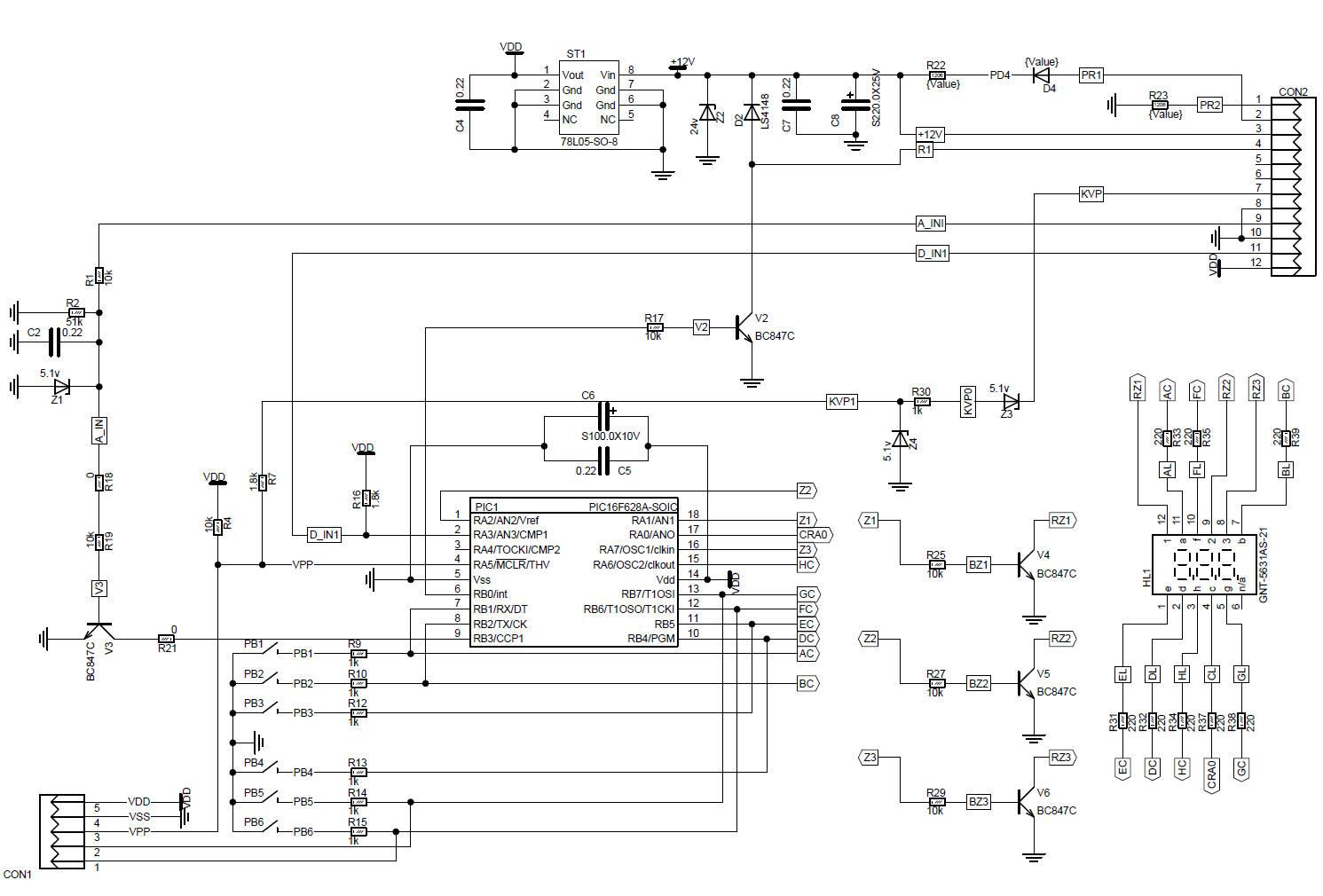 Электронный спидометр 2110 схема